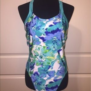 Nike Floral One Piece Swimsuit